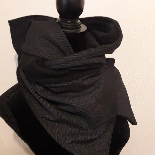 ramasser amazone en stock Echarpe capuche polaire chaude tissu hiver cousu accessoire mode ...