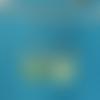 Boucles d'oreilles en cuir turquoise, vert printemps et argenté