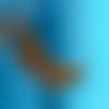 """Collier cuir """"petit papillon"""" couleurs d'automne et doré"""