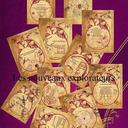 36 fiches pour grimoire de magie halloween