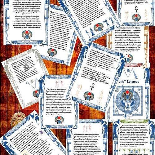 40 pages pour grimoire egyptien à imprimer