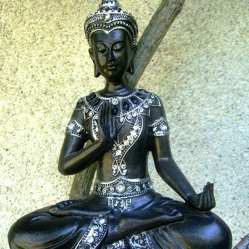 Bouddha thaïlande avec mudra de la graine, rare stauette bouddha, décoration zen,