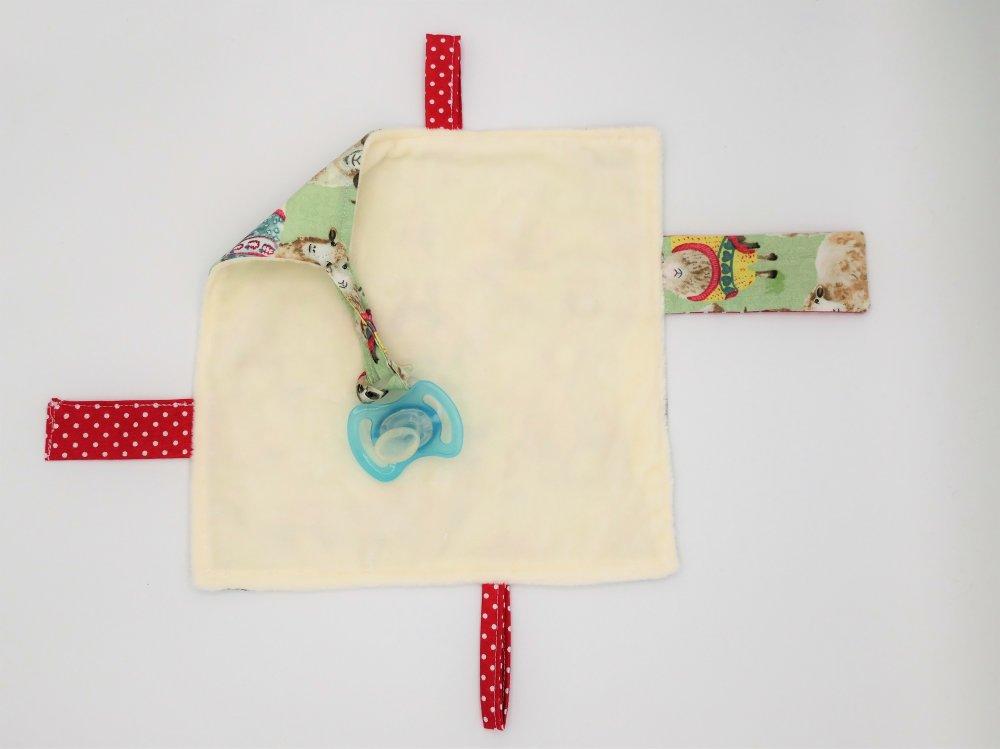 Grand sac pochon -  doudou pour bébé