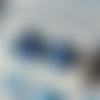 Boucles d'oreilles puces roses bleues