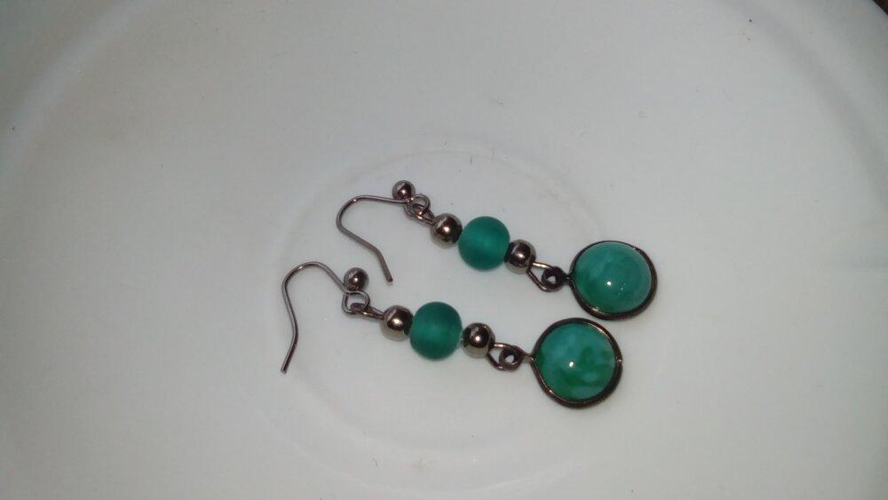 """Boucles d'oreille """"Turquoise antique"""""""
