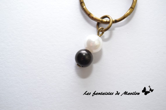 """Bijou de sacs """"Maman"""" noir et blanc"""