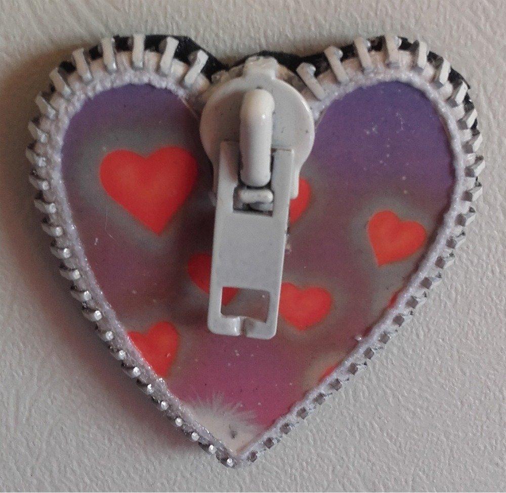 Magnet coeur : envolée de coeurs