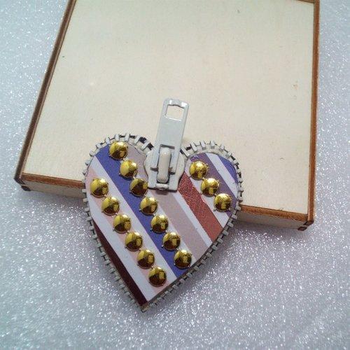 Magnet cœur décor géométrique