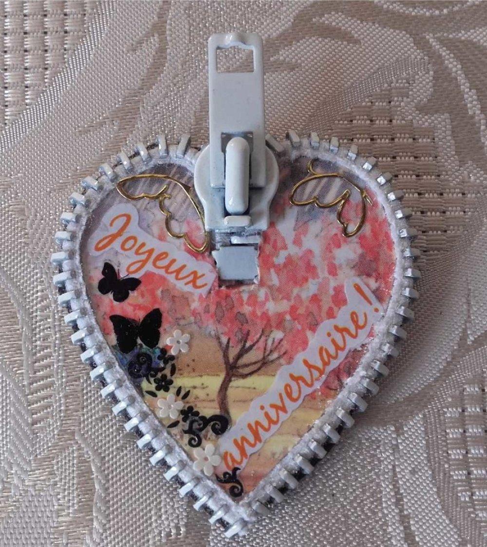 Magnet coeur : Joyeux Anniversaire