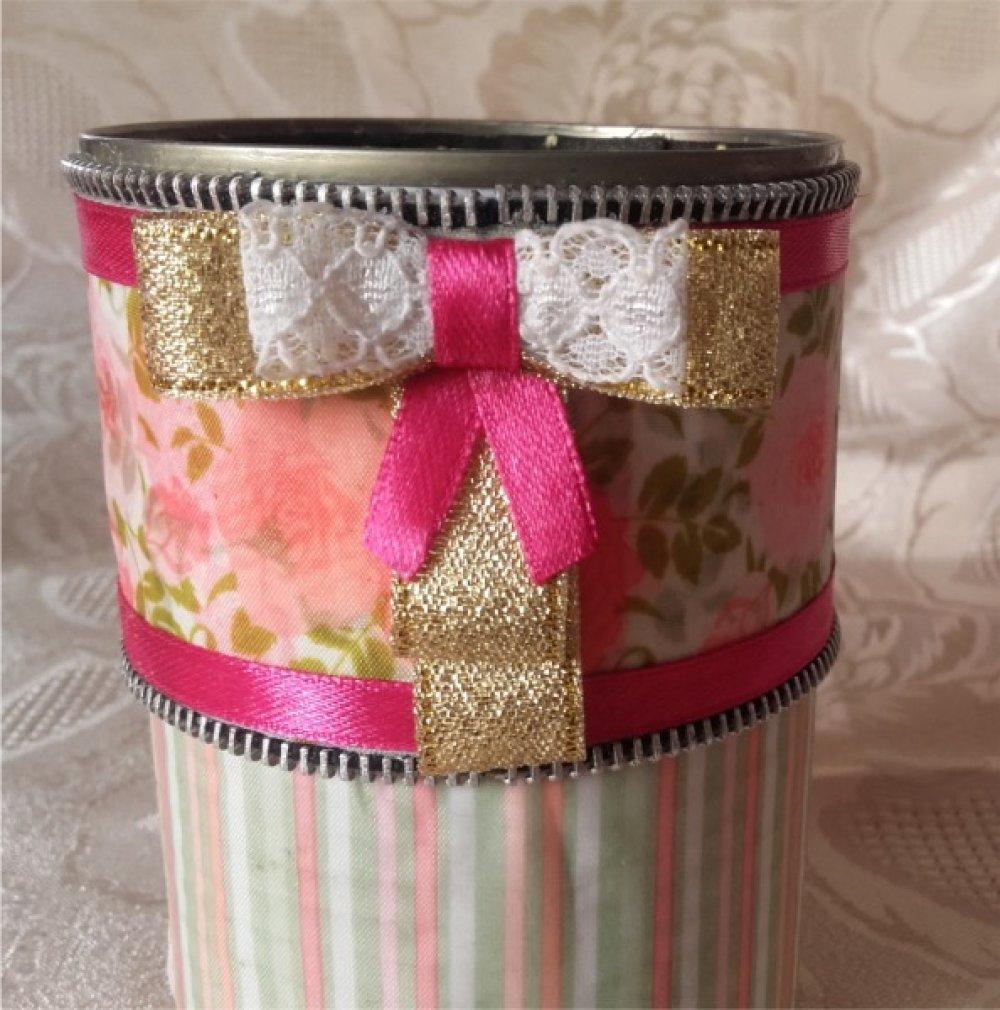 Boîte décorée style shabby