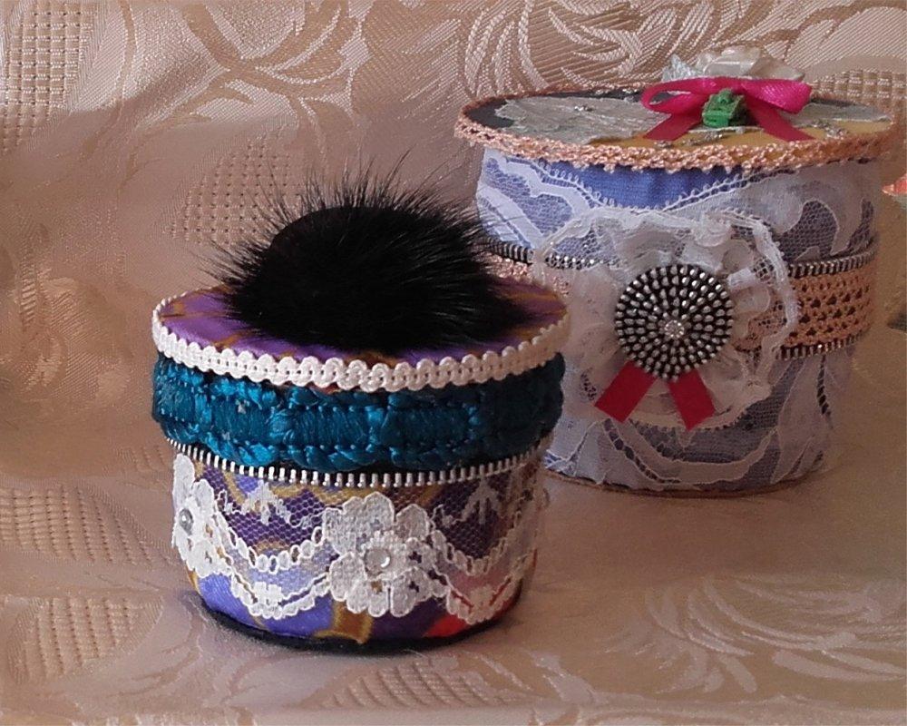 Boîte à bijoux à fourrure
