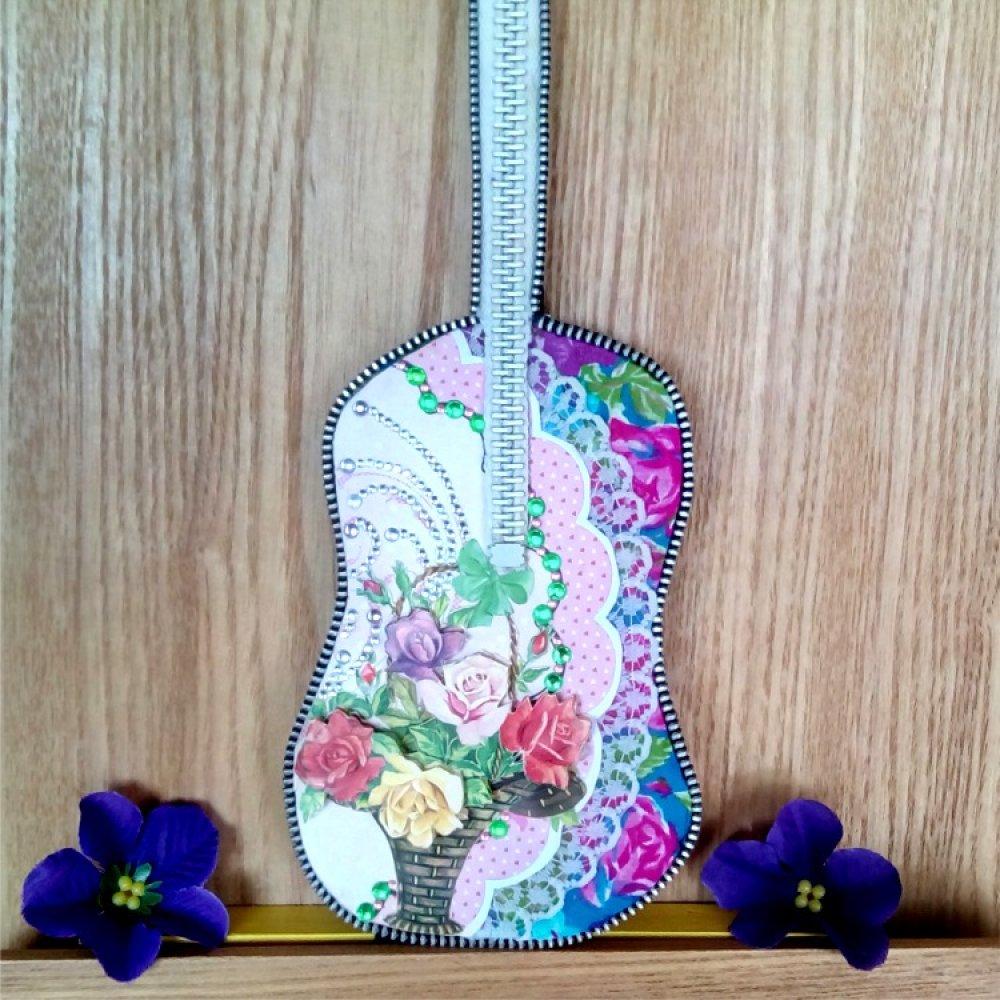 Guitare miniature collection : Bouquet de roses 3D