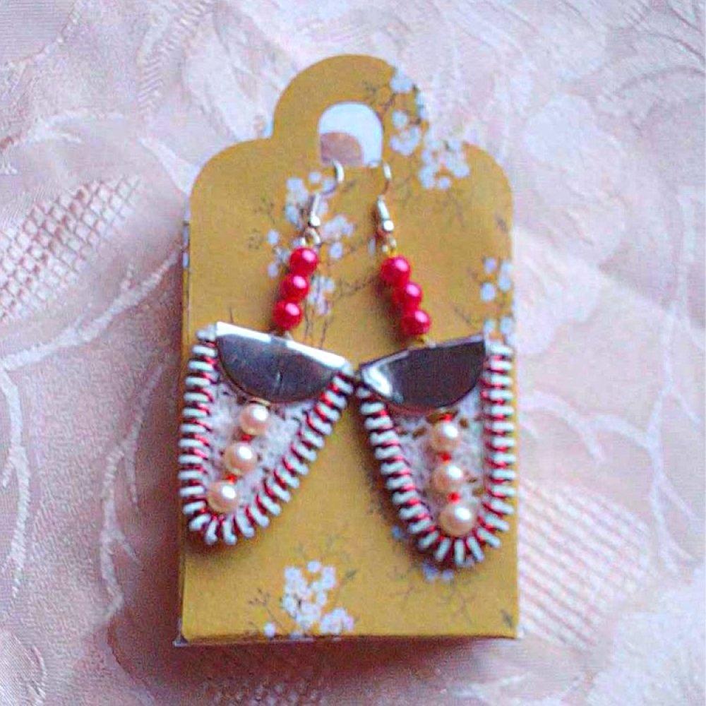 Boucles d'oreilles dentelle vintage