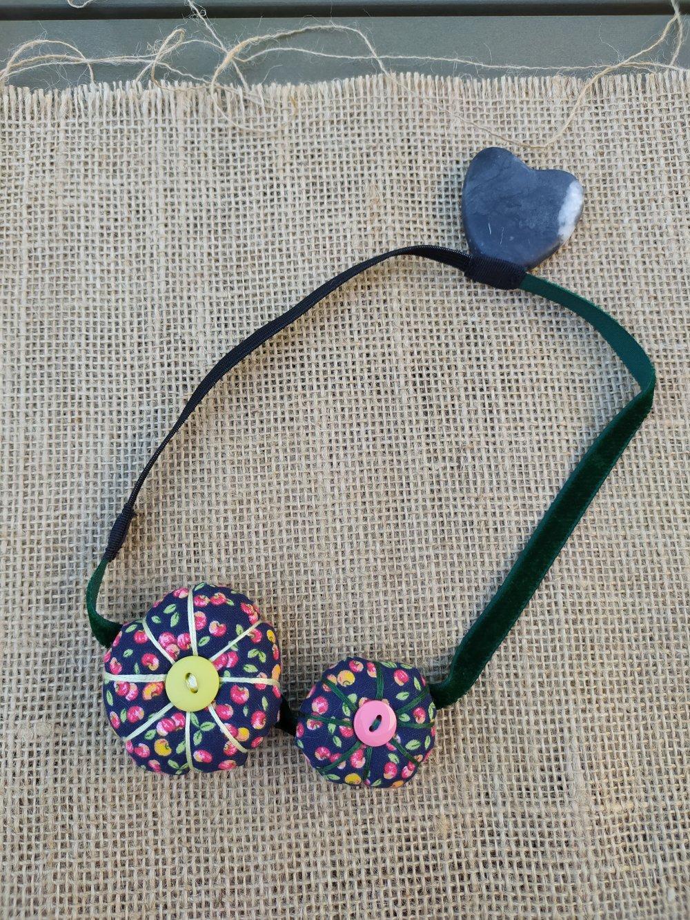 Headband / bandeau potirons et velours