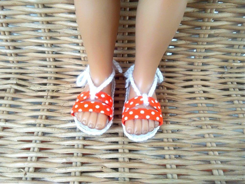 Chaussures poupée 32-33 cm compatible faites main