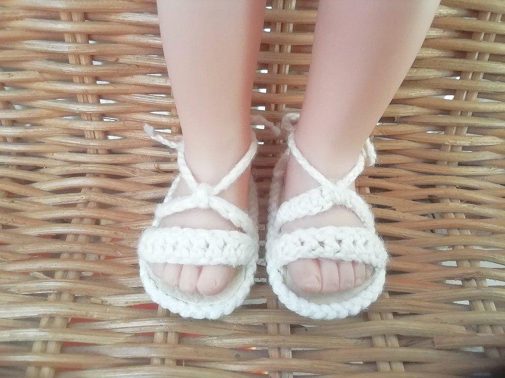 Chaussures poupée 32-33 cm Paola Reina, faites main
