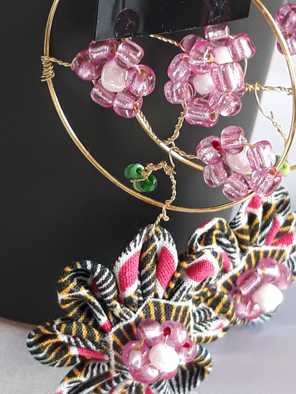 Boucles d'oreilles :Fleur de cerisier