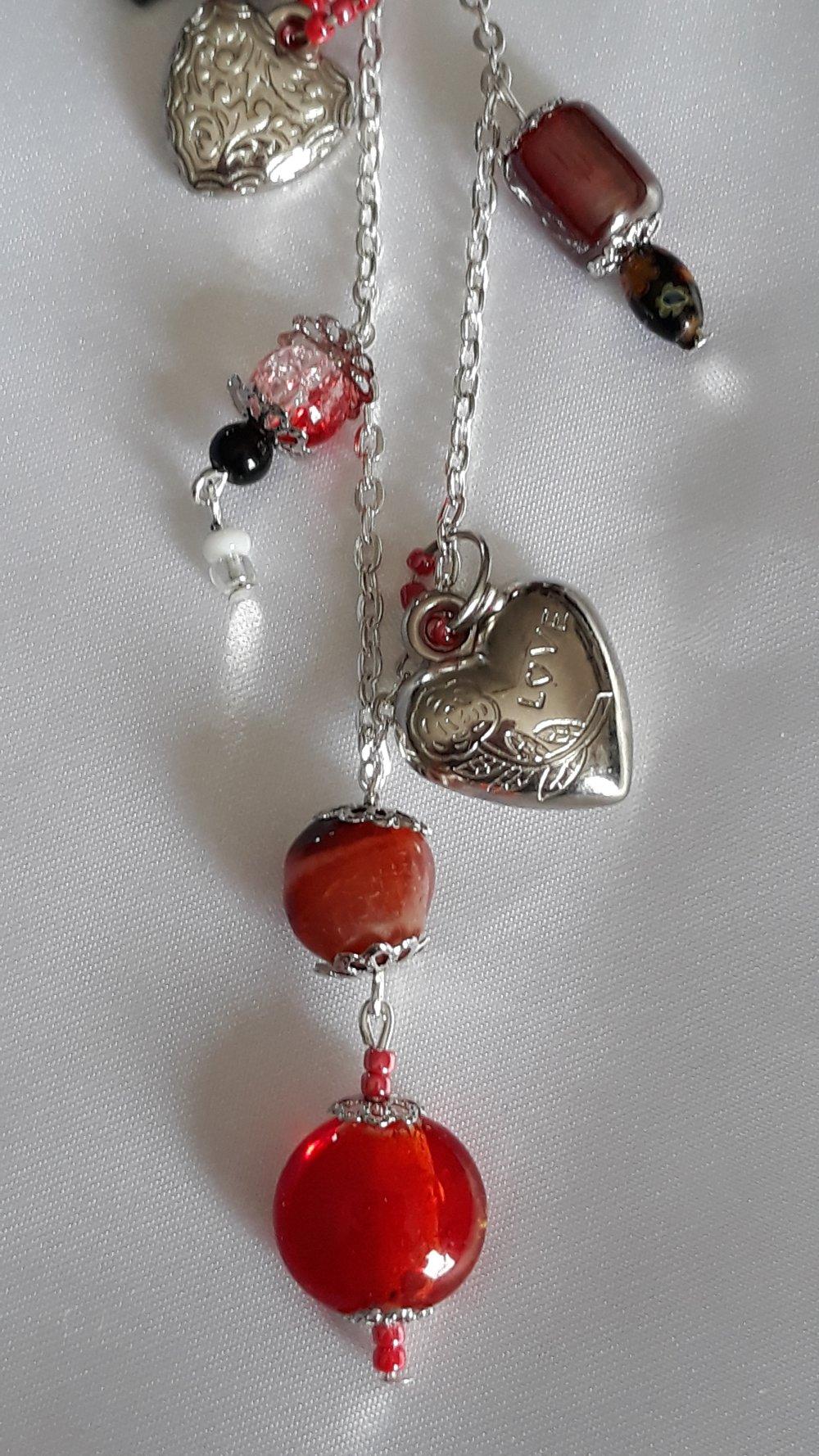 Porte clés :Élégant rouge