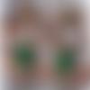 Boucle d'oreille :lotus vert