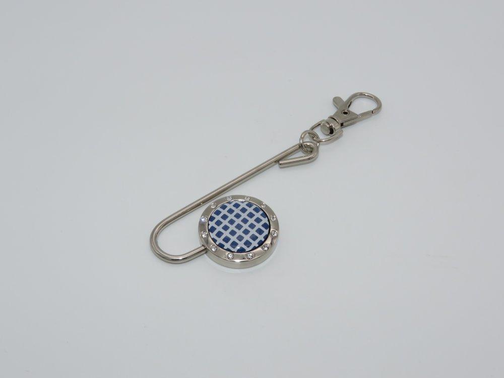 Retrouve-clés toile bleu et blanche