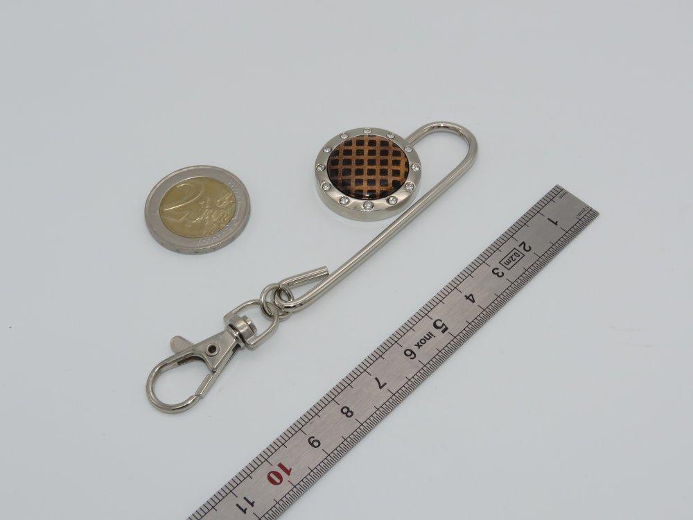 Retrouve-clés toile marron