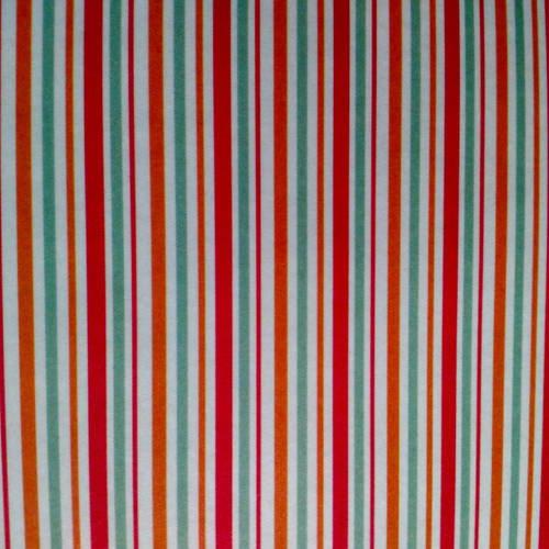 Feuille masking tape, autocollant pour serviettage, collage, décopatch, motif bande rouge, vert, orange et blanc