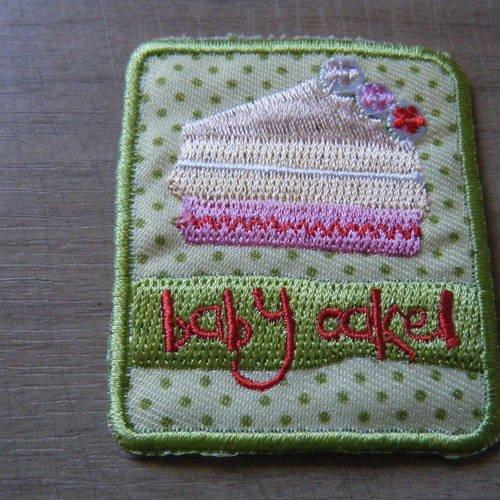 Applique thermocollante en forme de gâteau, gourmandise pour customisation et réparation de vêtement