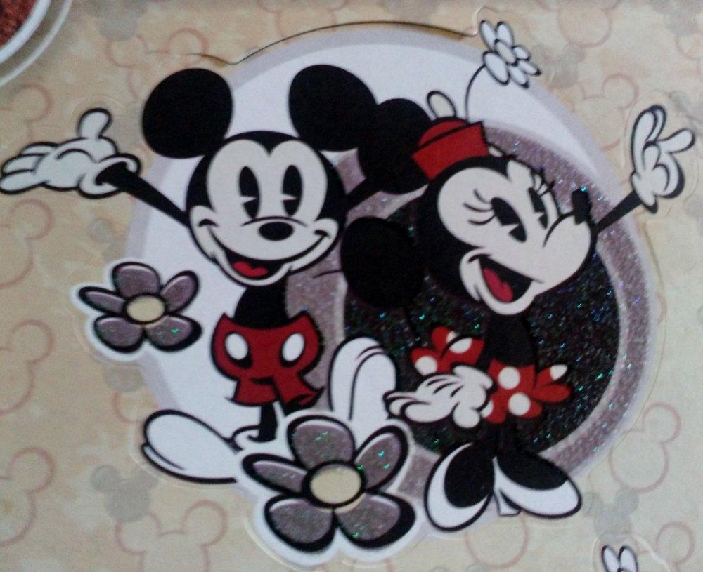 lot de 23 pièces pour scrapbooking ou carterie 3D sur le thème de Mickey, Minnie et Pluto de Disney
