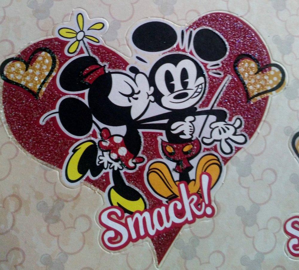 lot de 18 pièces pour scrapbooking ou carterie 3D sur le thème de Mickey, Minnie et Pluto de Disney