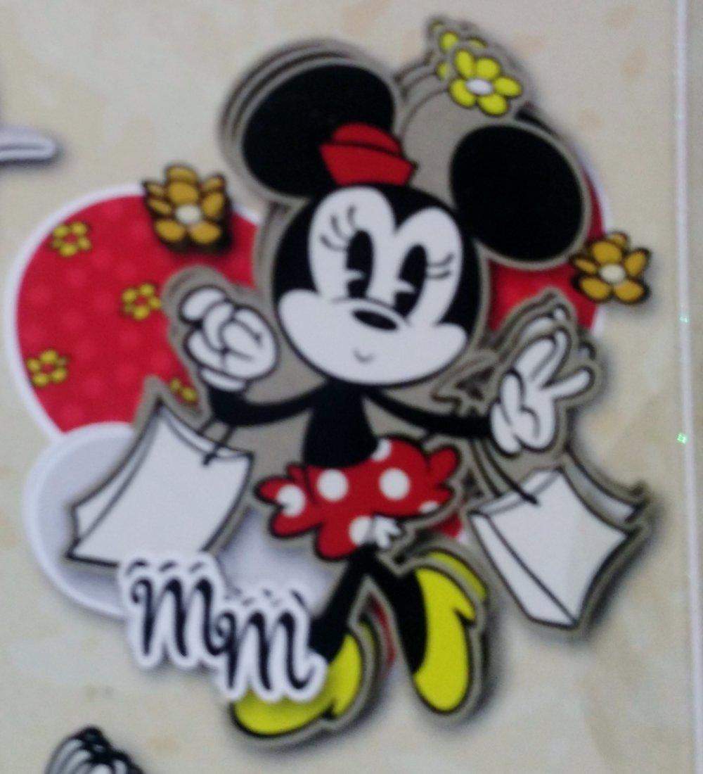 lot de 15 pièces pour scrapbooking ou carterie 3D sur le thème de Mickey, Minnie et Pluto de Disney