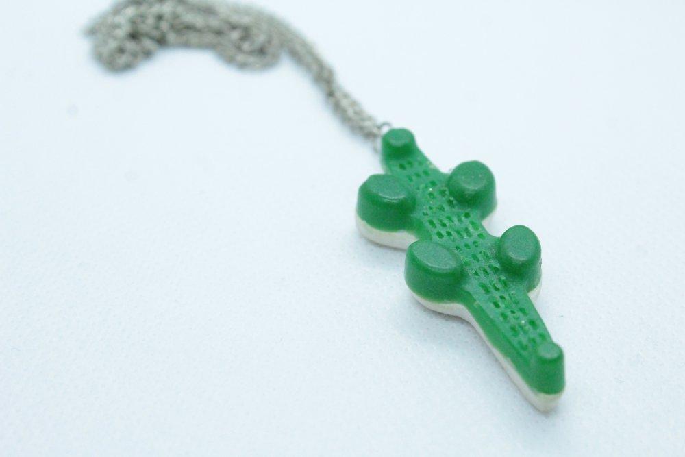 Collier bonbon crocodile