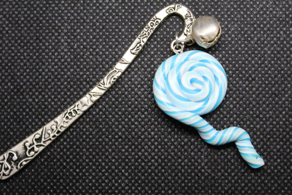 Marque page bonbon bleu