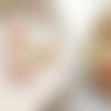 1 breloque libellule doré émaillé 22mm