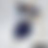 Doudou petit faon bleu marine
