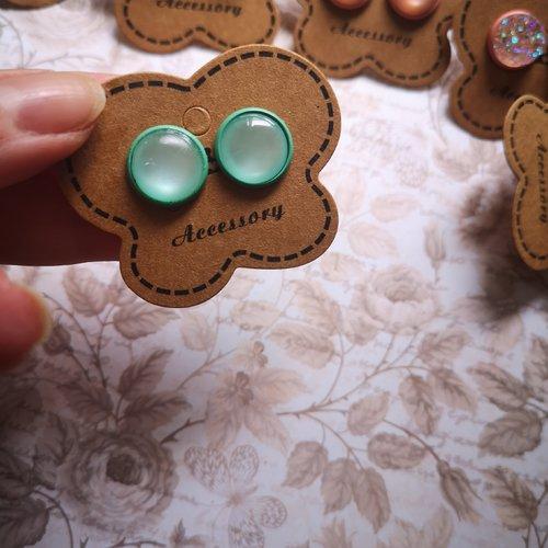 Boucles d'oreilles colorées funny
