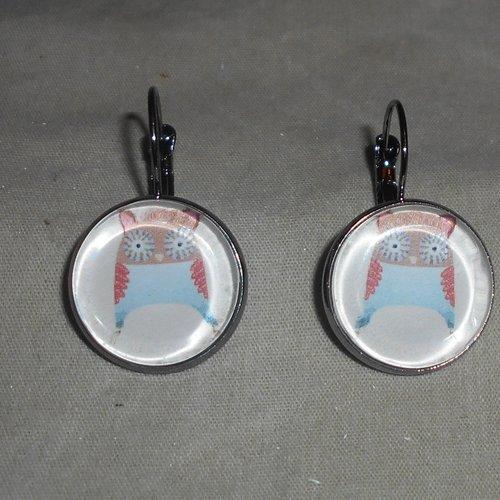 Boucles d oreilles cabochon 18 mm