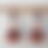 Boucles d'oreilles perles à facettes de bohème orange cuivre