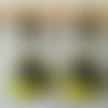Boucles d'oreilles perles à facettes de bohème vert