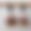Boucles d'oreilles perles à facettes de bohème beige et rose en verre tchèque