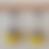 Boucles d'oreilles perles à facettes de bohème jaune en verre tchèque