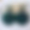 Boucles d'oreilles emilie - pendentif en acétate vert et clou carré - esprit vintage