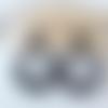Boucles d'oreilles (modèle moyen) créoles perles en cristal swarovski noire - esprit vintage