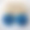 Boucles d'oreilles amelia - palet irrégulier en résine et clou fleur - esprit vintage