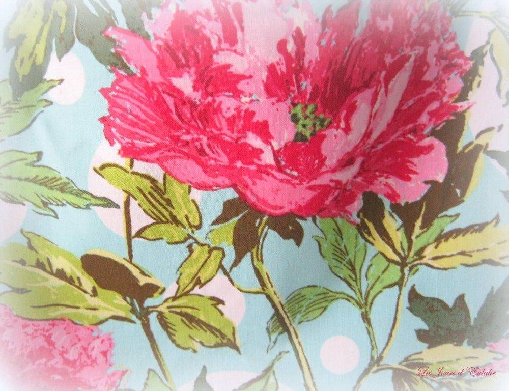 Sac cabas fleuri et Metis framboise.
