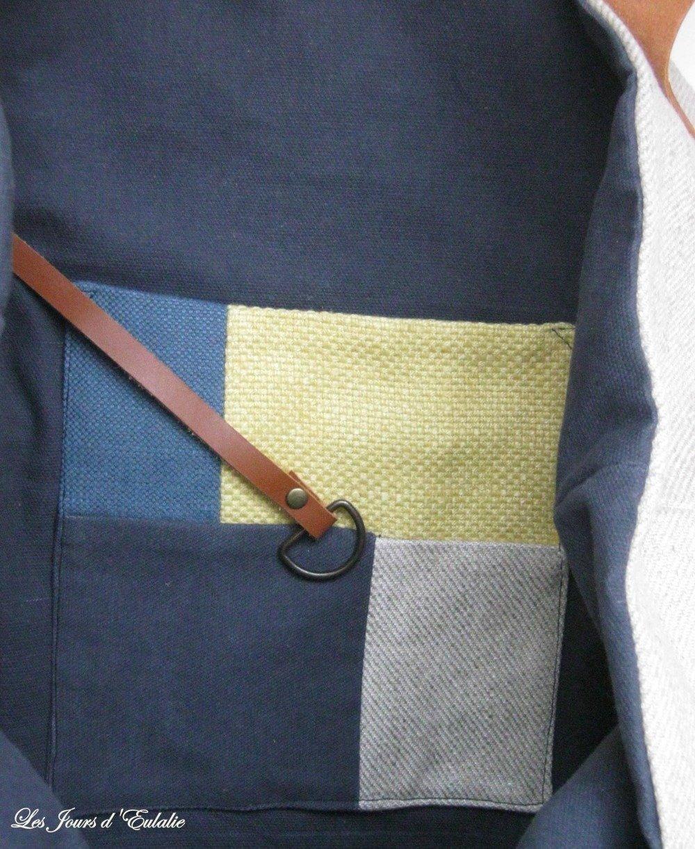 Grand sac cabas Métis multicolore.