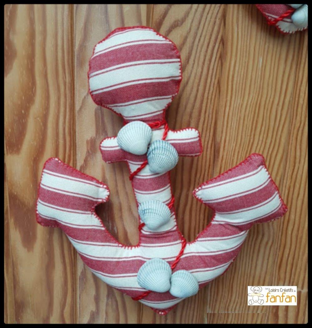 ancre marine,décoration murale,suspension murale, thème mer,décoration intérieur,cadeau,salon,coquillage,bord de mer,décor nautique