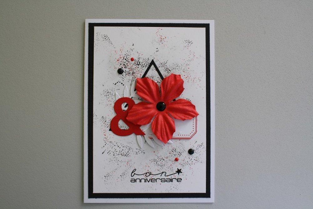 Carte : Fleur rouge