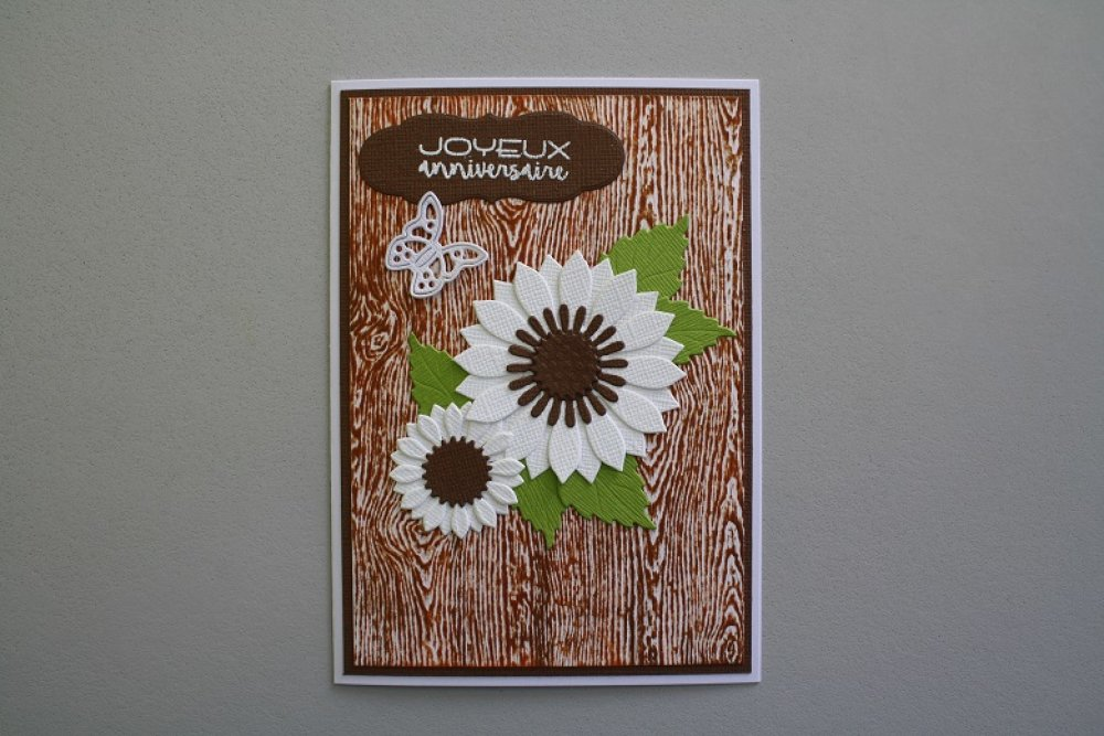 Carte : Fleurs blanches