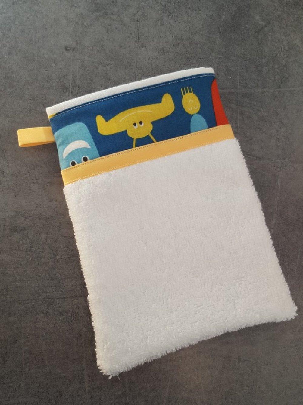 Gant de toilette déco pour enfant