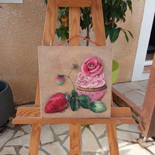 Cupcake aux fraise